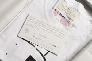 Acne Studios White Art T-Shirt Project