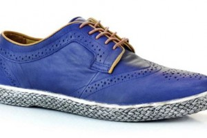 J Shoes Calypso Navy Leather Brogue